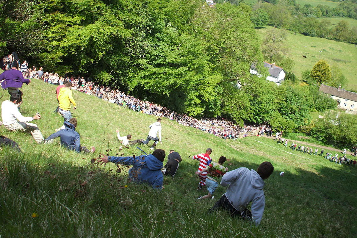 cheese rolling contest