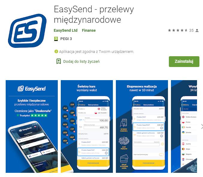Easysend app play google