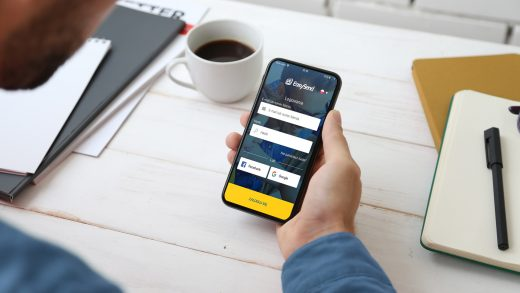 Aplikacja EasySend do szybkich przelewów międzynarodowych